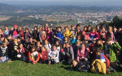 Četrtošolci na Trikotni jasi (športni dan)